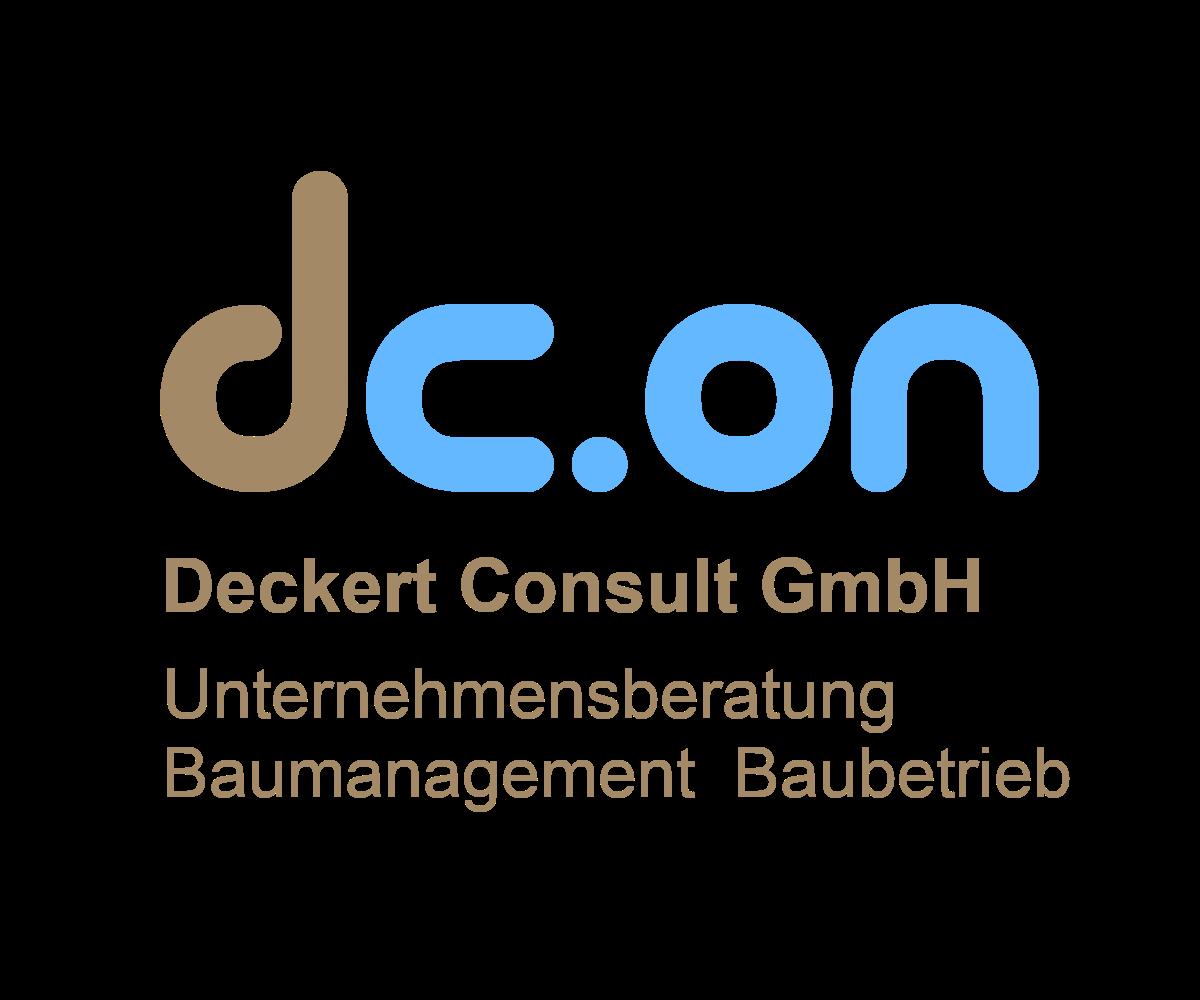 Logo dc.on Deckert Consult GmbH Unternehmensberatung Baumanagement Baubetrieb