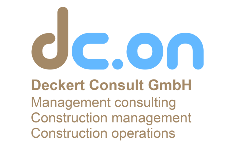 Logo dc.on Deckert Consult Management consulting Construction management Construction operations