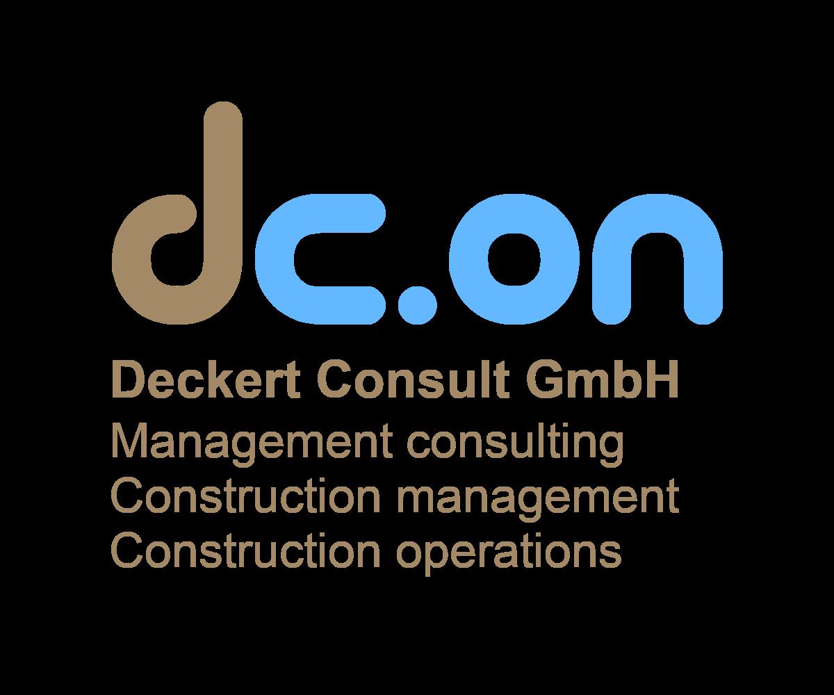 Logo dc.on Deckert Consult Management consulting Construction management Construction operations
